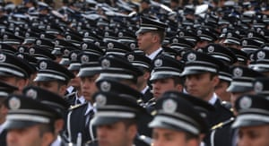 Turkish police force attend a ceremony in Ankara, Turkey