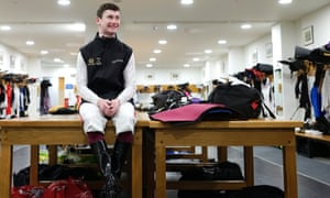 Oisin Murphy poses in the Ascot changing room as he prepares to be crowned 2019 champion jockey.