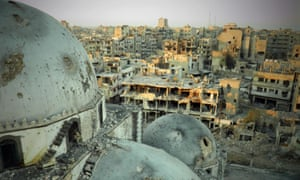 The ruined city of Homs, subject of the the Syrian architect, Marwa al-Sabouni.