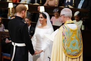 The Duke and Duchess of Sussex during their wedding ceremony