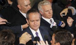 Australian Opposition leader Bill Shorten