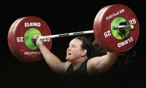 New Zealand's Laurel Hubbard during the 2018 Commonwealth Games