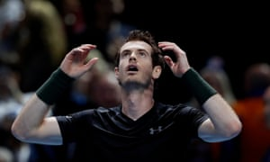 Andy Murray at last year's ATP World Tour finals in London