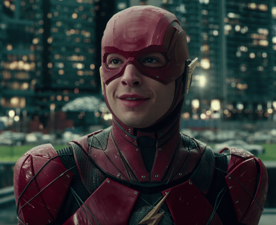 Superhero … Ezra Miller as the Flash in Justice League.
