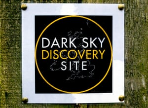 Notice at the North Yorkshire Moors Dark Sky Discovery Site.