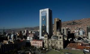 Evo Morales' palace in La Paz.