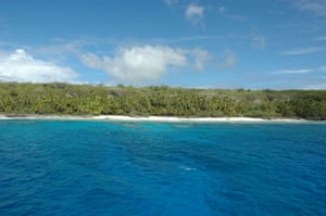 Unesco pictures of North West Beach on Henderson Island.