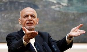 The Afghan president, Ashraf Ghani