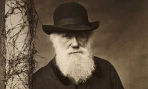 a photographic portrait of the elderly charles darwin