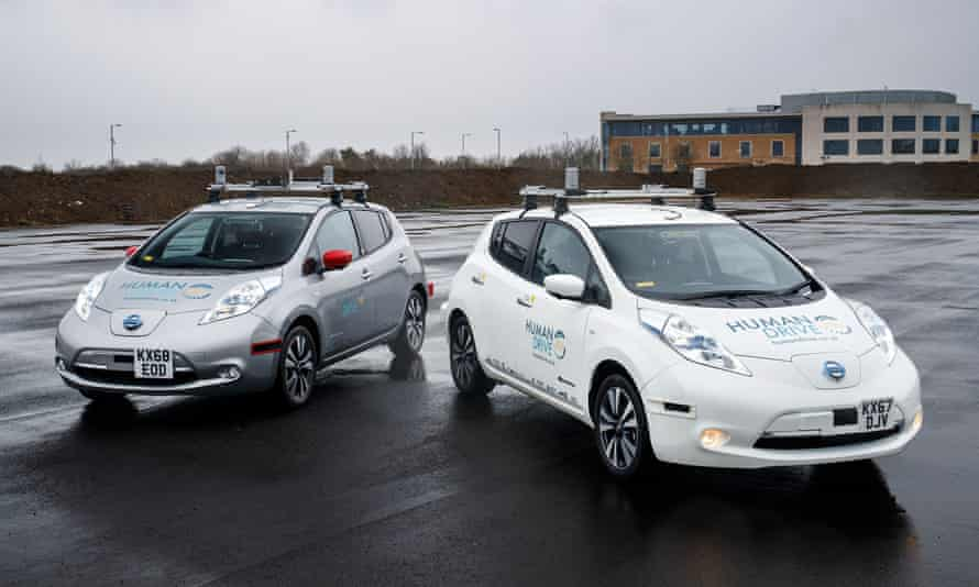 The Nissan Leaf used as part of the HumanDrive project