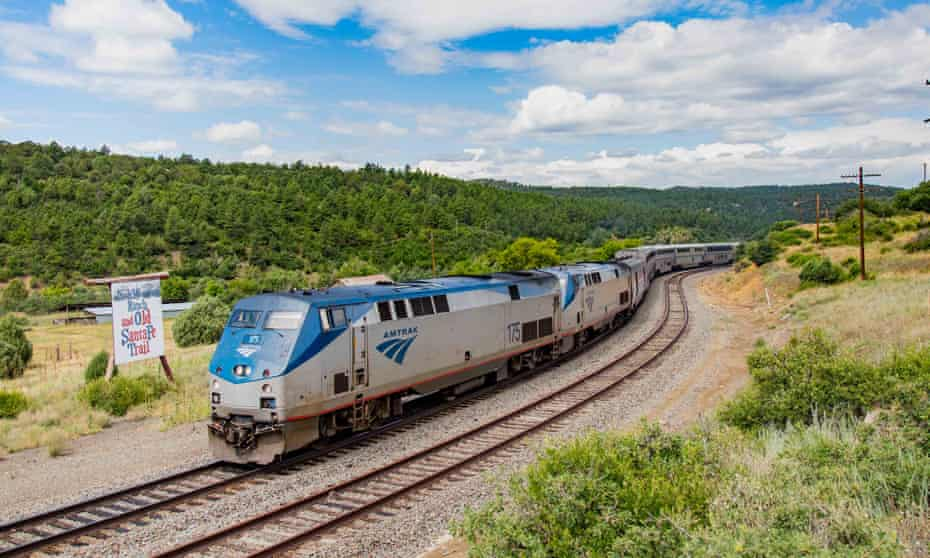 Amtrak's Southwest Chief at Wootton Ranch, Colorado, near the Raton Pass.