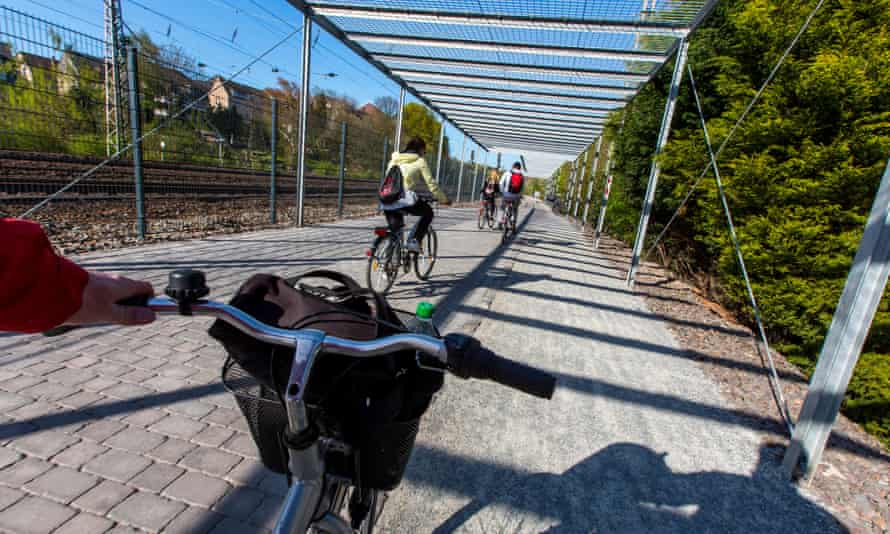 The first part of Germany's planned 62-mile long bike expressway.