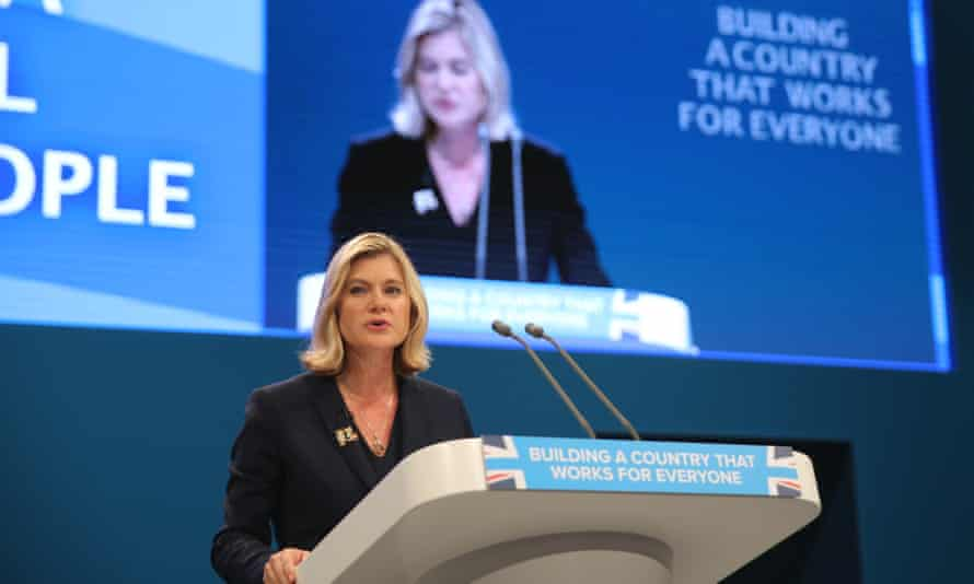 Justine Greening  at Conservative conference 2017