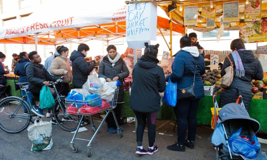 'The UK has been lagging behind other countries.' The scene at East street market south London today.