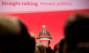 Jeremy Corbyn delivers his first keynote speech during the third day of the Labour Party conference at the Brighton Centre in Brighton, Sussex