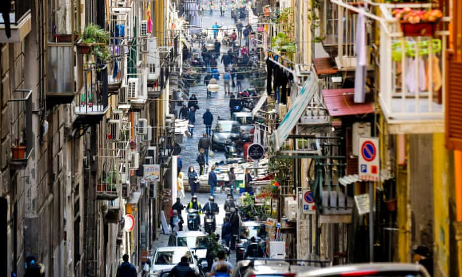 A busy street in central Naples this month.