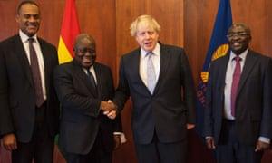 Boris Johnson with President Nana Akufo-Addo