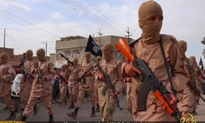 Child recruits of Islamic State train in Tal Afar, Iraq, 2015