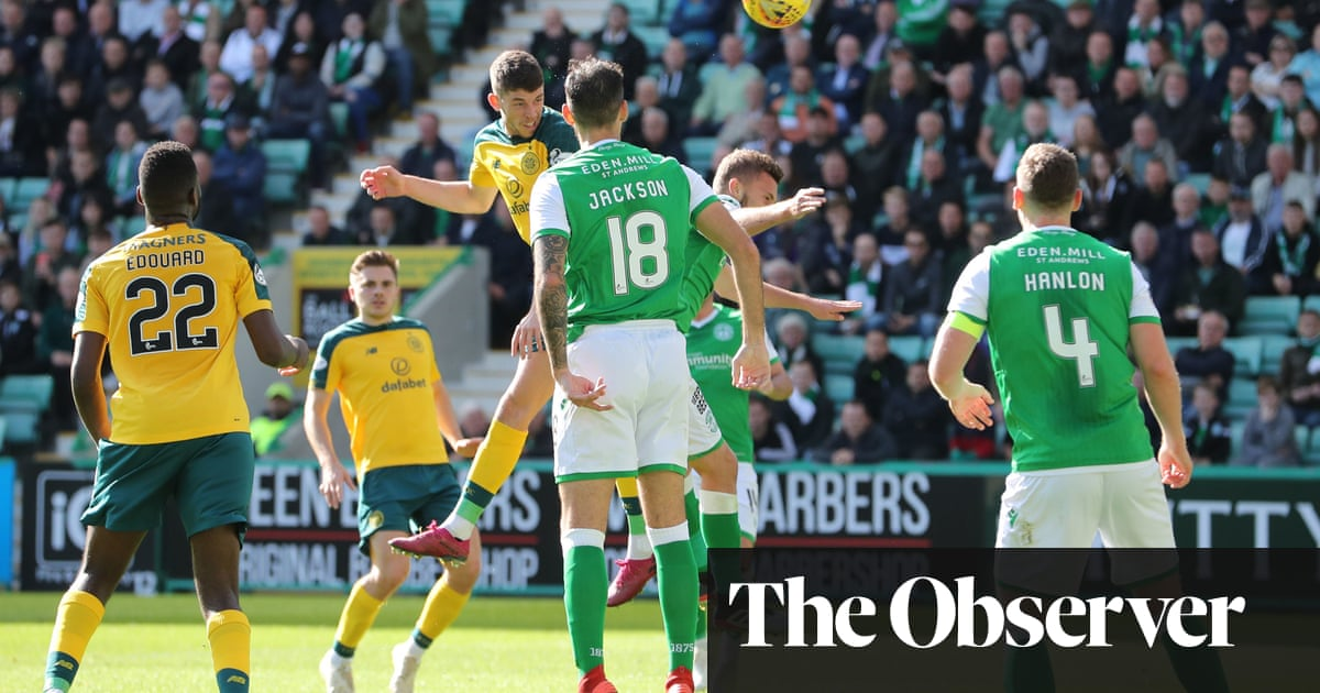 Celtic held by Hibs as manager Paul Heckingbottom sent to the stand