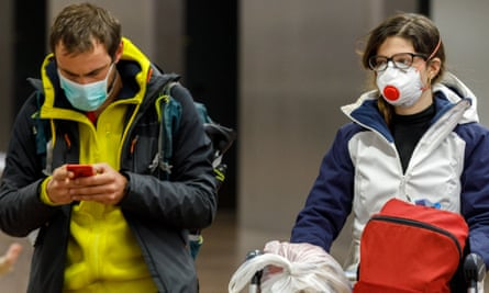 Travellers arrive at Brussels airport