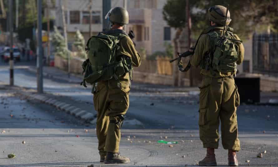 Israeli Defence Forces troops on patrol.