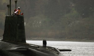 Tony Blair Announces Government Trident Plans<br>GLASGOW, UNITED KINGDOM - DECEMBER 04:  HMS Vengence returns to Faslane Submarine base on the river Clyde December 4, 2006 in Helensburgh, Scotland. Tony Blair is to address MPs about his plans for the future of the UK's independent nuclear weapons system.  (Photo by Jeff J Mitchell/Getty Images)
