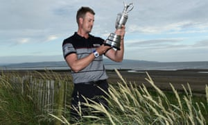 Henrik Stenson with the Claret Jug after becoming Sweden's first major champion.