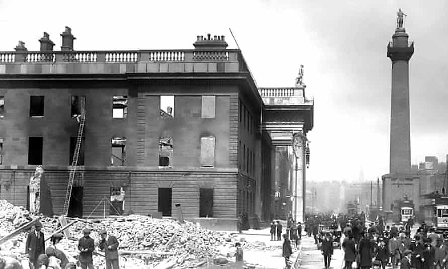 The devastated GPO after the uprising had been crushed.