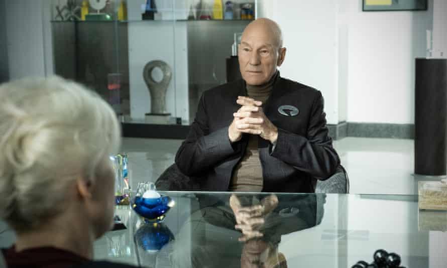 In the new Trek universe: Patrick Stewart as Jean-Luc Picard.