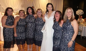 Guests at the wedding in Australia wearing the same dress by Forever Now.