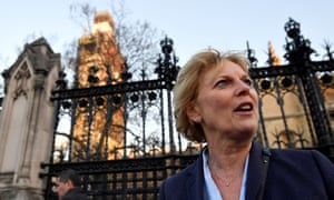 British MP Anna Soubry, who was blocked from entering parliament.