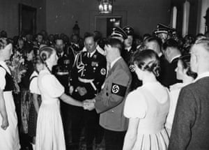 Hitler greeted by a 'landgirl' in 1939.