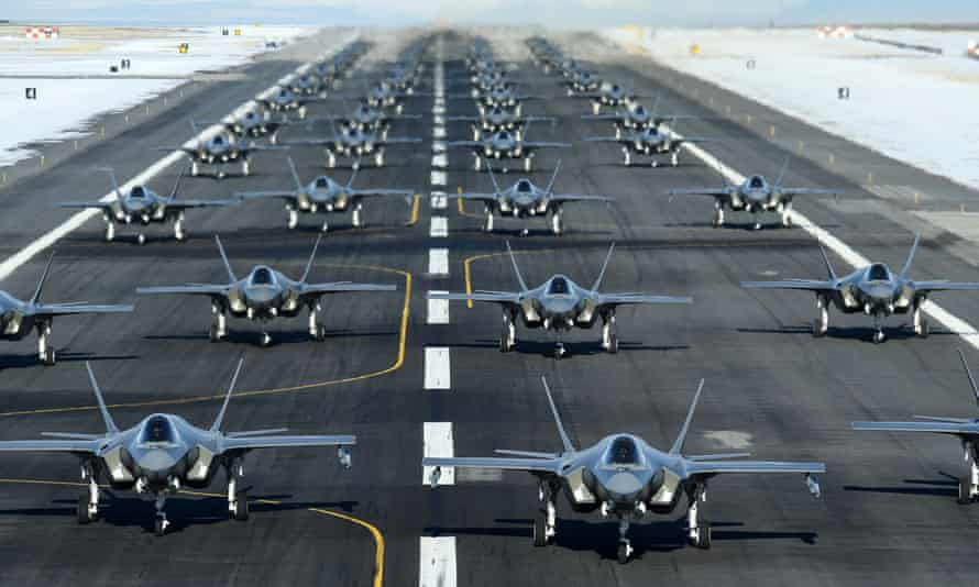 F-35A fighter jets at Hill air force base, in Utah on Tuesday.