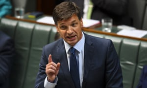 Australian Energy Minister Angus Taylor speaks during House of Representatives Question Time at Parliament House in Canberra, Thursday, October 17, 2019. (AAP Image/Lukas Coch) NO ARCHIVING