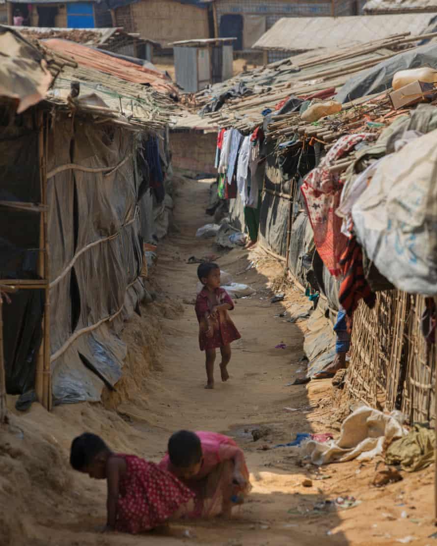 Children at the refugee camp near Cox's Bazar.