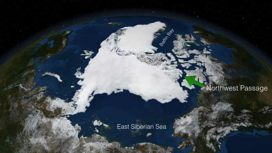 NASA's Earth-observing satellites monitor polar ice cover, among other vital signs. In summer 2007, when Cloud Nine transited the Northwest Passage, NASA satellites showed the Passage entirely free of ice.