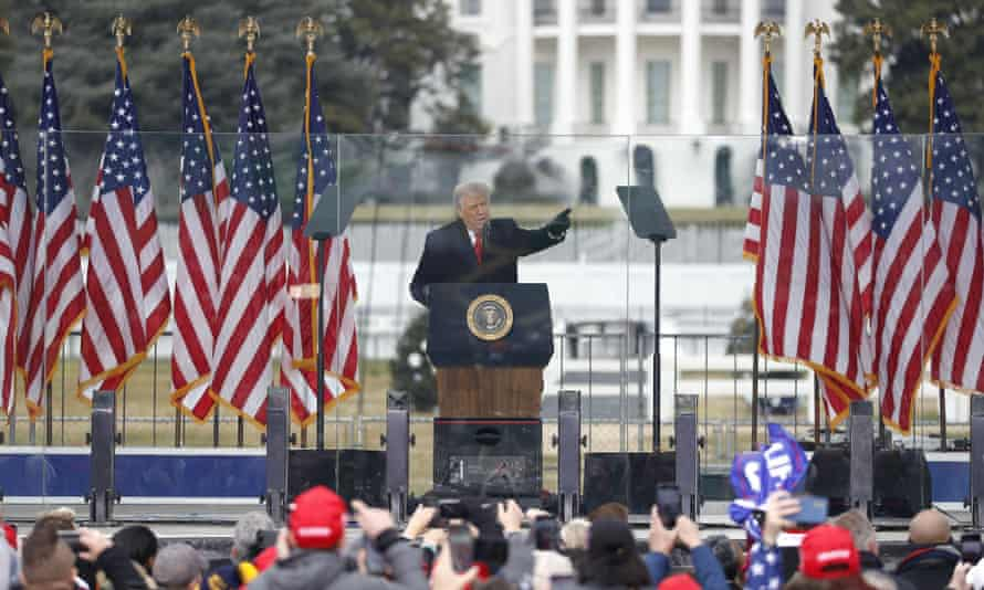 Donald Trump in Washington DC on 6 January.