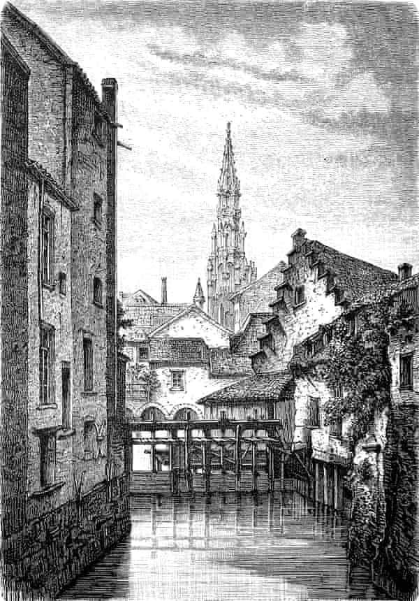 An illustration of old Brussels on the Senne