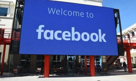 Facebook's corporate headquarters campus in Menlo Park, California