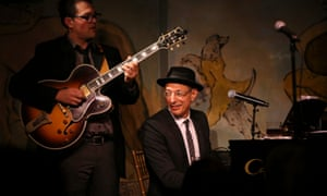 Play it agan, Jeff: Goldblum with his jazz group, the Mildred Snitzer Orchestra, at the Cafe Carlyle in New York.
