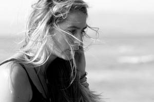Alienor Le Gouvello at the beach.