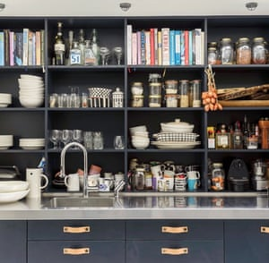 Interiors journalist Kate Watson-Smyth's charcoal and stainless combo is a winner. As are those leather drawer pulls. @madaboutthehouse