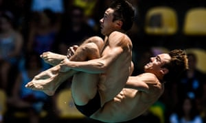 Tom Daley and Dan Goodfellow finished third in the 10m synchro at the Diving World Cup behind Chinese and German pairs.