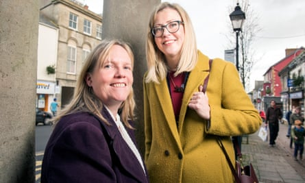 Amanda Broom, who defected from the Tories, and Daisy Benson (right) the Lib Dems' prospective parliamentary candidate for Yeovil, pictured in Chard town centre.