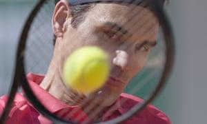 Roger Federer at French Open 2021