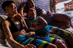 People in a squat near Glória Metro, Rio