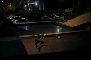Yeafersonth Manrique, whose nickname is B-Boy Chispa, practices breakdancing at the Teresa Carreno theatre in Caracas, Venezuela. 'When we're out here dancing, we don't think about the state of the country,' says 24-year-old Manrique. 'In this world there is no crisis.'