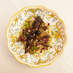"The Vegan (De)Light"" (portobello kebab with added an aubergine) at Gloria Restaurant, Shoreditch, London."