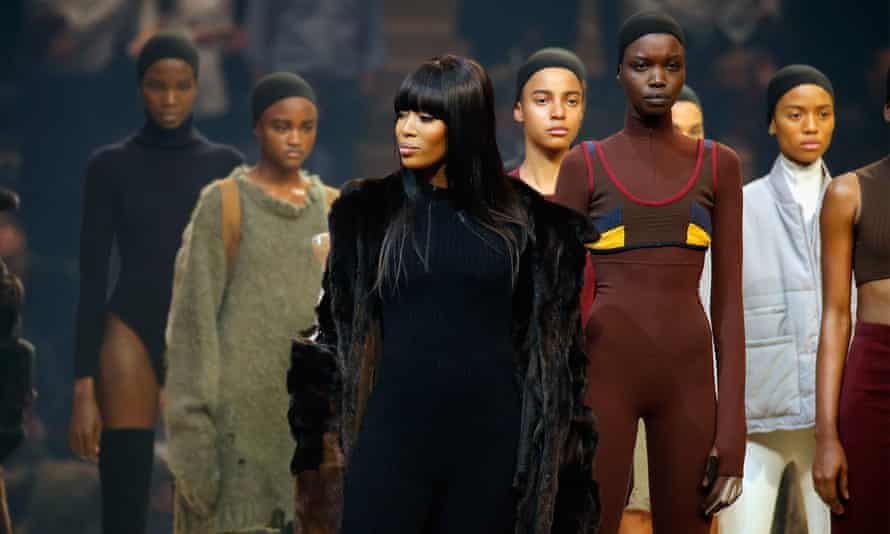 Model Naomi Campbell appears onstage