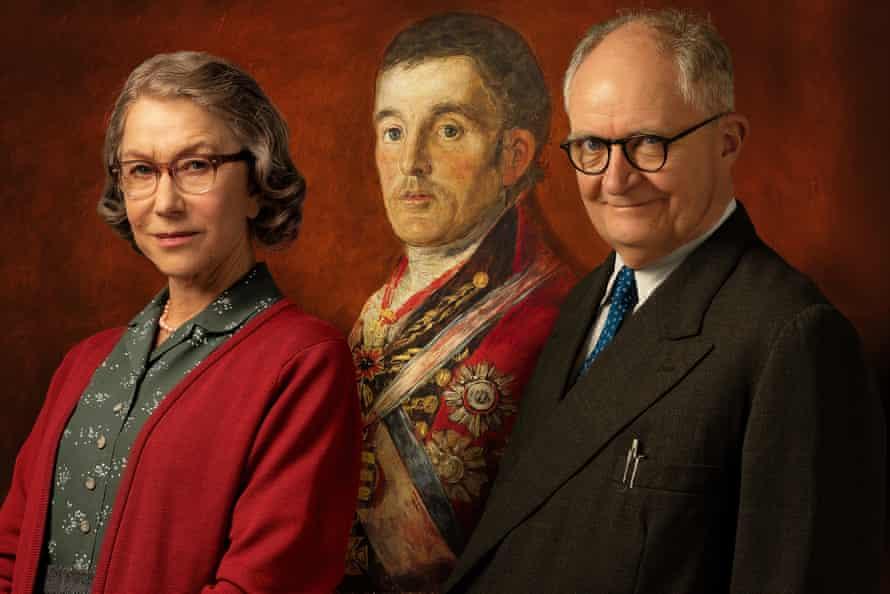 Helen Mirren and Jim Broadbent, with the Duke of Wellington.